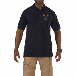 Customized 5.11 Tactical Mens Short Sleeve Polo Shirt with Crossed Axes Embroidery