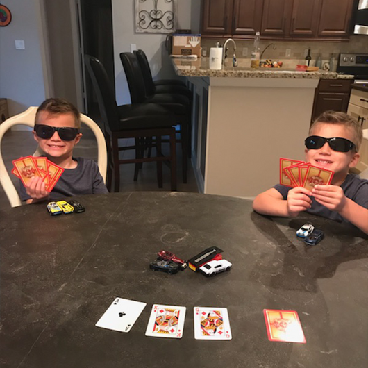 Firefighter Playing Cards with Kids Card Game