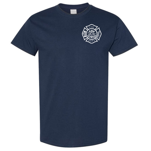 Fire Dept Duty T-Shirt Navy Cotton