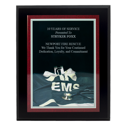 Personalized EMS Plaque - Black
