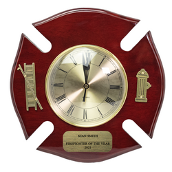 Personalized Firefighter Maltese Clock