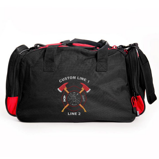 Customized Duffle Bag with Crossed Axes Embroidery