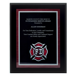Fire Department Plaque - Black