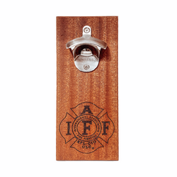 IAFF Wood Magnetic Bottle Opener