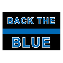 Back the Blue Thin Blue Line Decal