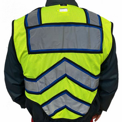 BLANK UltraBright 6-Point Breakaway Public Safety Vest POLICE BLUE