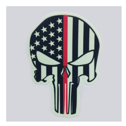 IdentiFire American BadAss Patriot Thin Red Line Decal- 4 inch