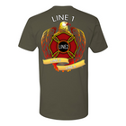 Customized Eagle Maltese Fire Fighter Premium Shirt
