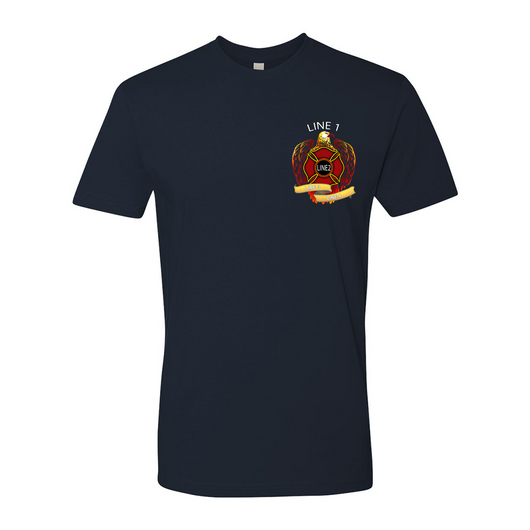 Navy Custom Firefighter Premium Shirt with Maltese and Eagle
