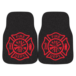 Firefighter Maltese Black and Red Carmats - Set of 2 Firefighter Gifts