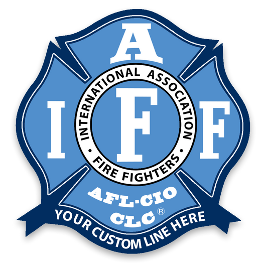 Custom IAFF Blue & Navy Decal