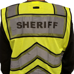 SHERIFF UltraBright Olive 6-Point Breakaway Public Safety Vest
