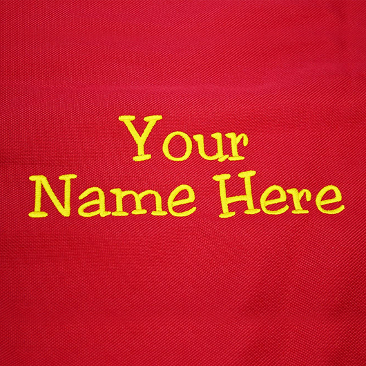 Custom Embroidered Customized Red Value Step-In Gear Bag