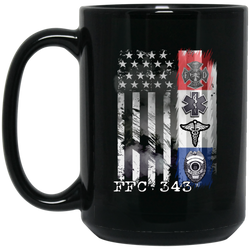 FFC 343 American First Responder 15 oz. Black Coffee Mug