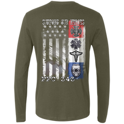 FFC 343 Support Our Heroes Premium Long Sleeve Shirt