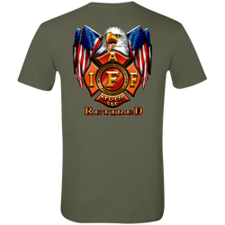 IAFF Retired Flag Eagle Softstyle T-Shirt