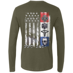 Firefighter, Police, EMS and Nurse COVID19 Support Long Sleeve T-Shirt