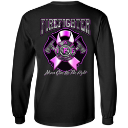 IAFF Never Give Up the Fight Long Sleeve Classic Cotton Shirt