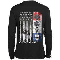 Dri-Fit Firefighter's FFC343 Long Sleeves First Responders Tee