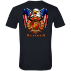 IAFF Retired Flag Eagle Premium T-Shirt