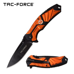 Tac-Force Star of Life EMS Orange Spring Assisted Knife