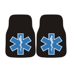 Star of Life EMS Car Mats - Set of 2 Firefighter Gifts