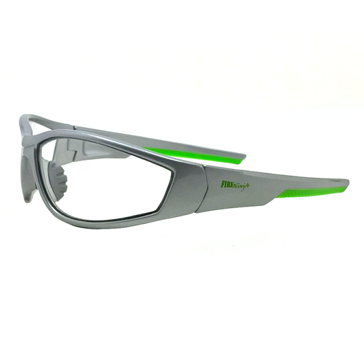 Silver & Green ULTRAFLEX (CLEAR) Safety Glasses EYE PROTECTION with Hard Case