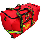 wheeled fire fighter gear bag with helmet compartment