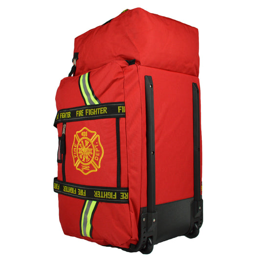 Durable firefighting gear bag for bunker gear and helmet