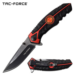 Red Line Spring Assisted Knife with Firefighter Maltese Cross