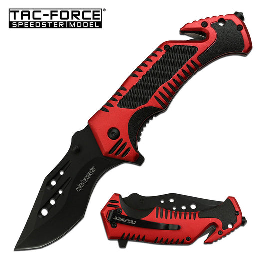 Tac-Force X-Large Firefighter Spring Assisted Knife