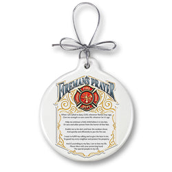 Firemans Prayer Ornament