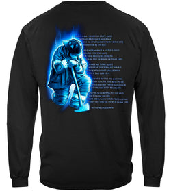 Long Sleeve Firefighter Prayer Tshirt