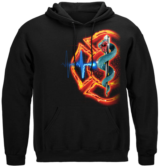Fire Rescue full front Maltese Hooded Sweat Shirt