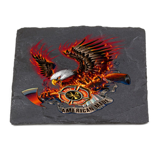 Patriotic fire Eagle American Made Coaster