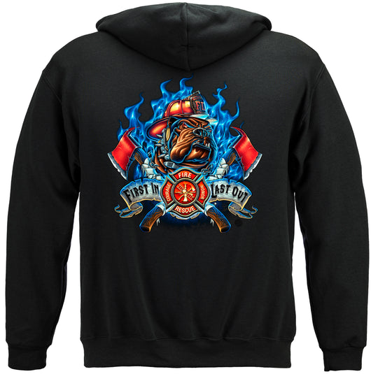 First In Last Out Fire Hoodie