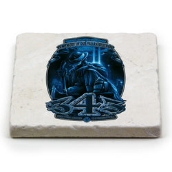 Firefighter You Will Never Be Forgotten 343 Coaster