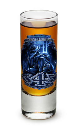 343 You Will Never Be Forgotten Shooter Shot Glass