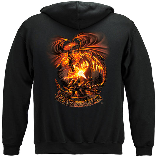 Fear No evil Dragon Hooded Sweat Shirt