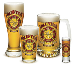 Volunteer Firefighter Glassware Gift Set
