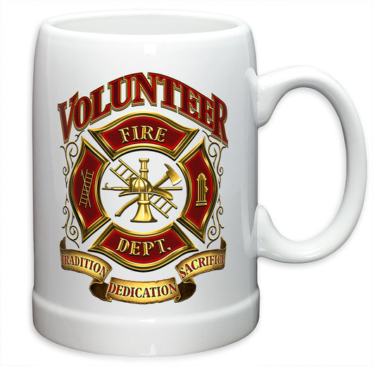 Volunteer Firefighter German Beer Steins