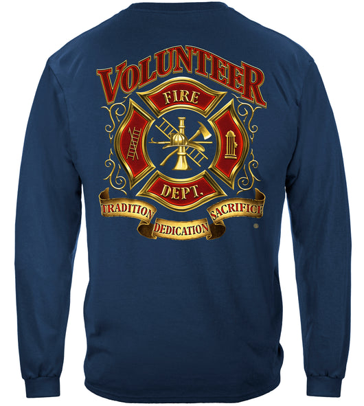 Long Sleeve Volunteer Firefighter T Shirt