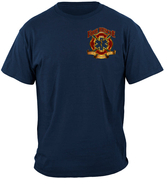 Fire Rescue Maltese Service Before Self Shirt