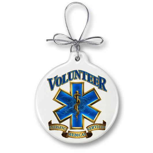 Volunteer EMS Gold Shield Ornament