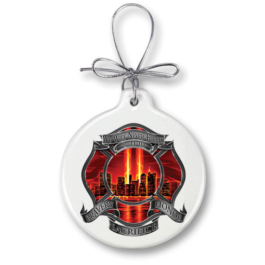 Red High Honor Firefighter Tribute Ornament
