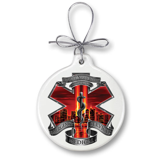 Red High Honor EMS Tribute Ornament