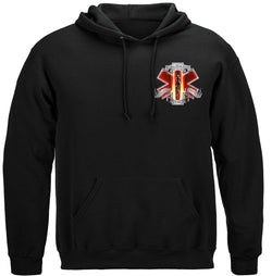 Red High Honors EMS Hooded Sweat Shirt