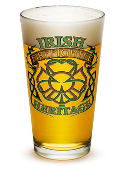 Firefighter Irish Heritage Pint Glass
