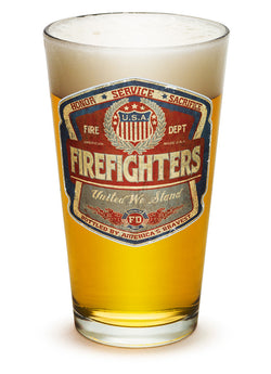 Firefighter Denim fade Pint Glass