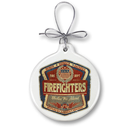 firefighter Denim fade Ornament